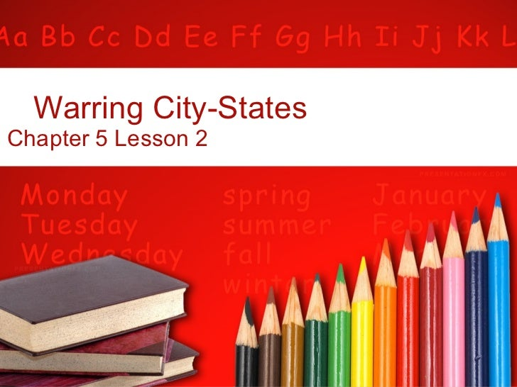 Warring City-States Chapter 5 Lesson 2