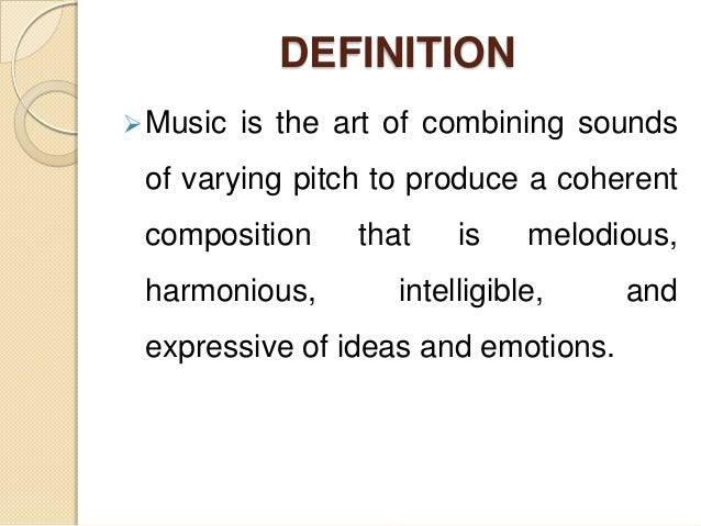 Definition of music