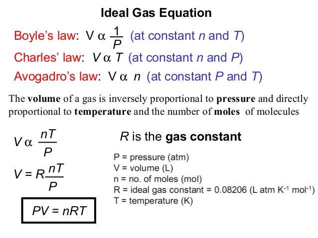 volume pressure and temperature relationship equation