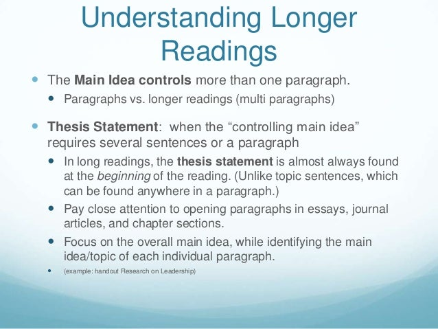 thesis and argumentative essay unit 1