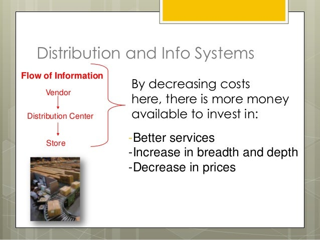Distribution and Info SystemsFlow of Information                       By decreasing costs      Vendor                    ...