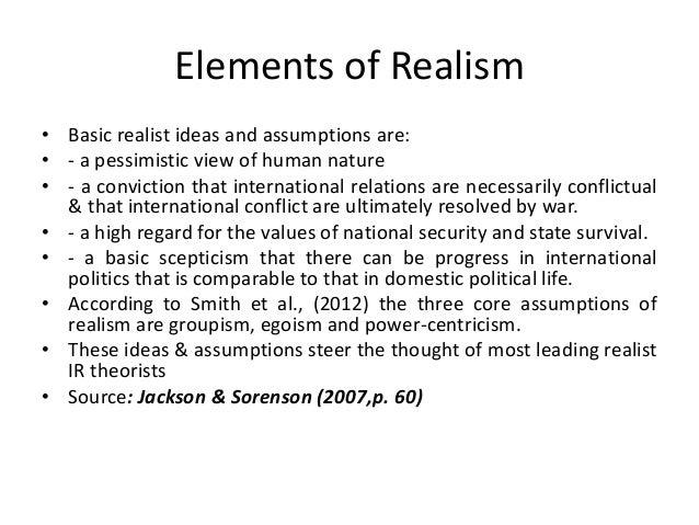 Realism Human Nature Ir