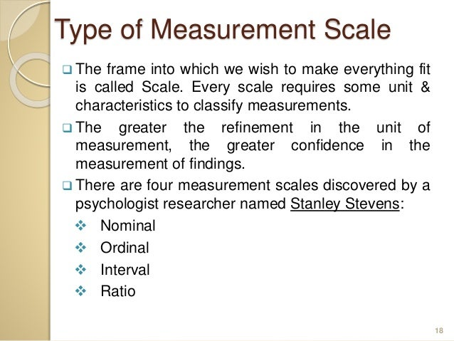 types of measurement scales in research