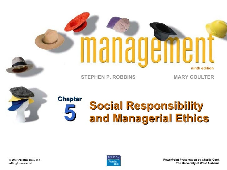 Social Responsibility and Managerial Ethics Chapter 5