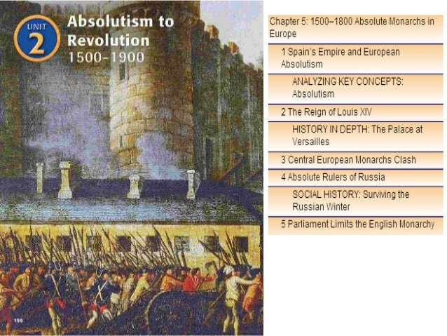 Chapter 5 Absolutism & Divine Right in Europe Spain, England, France, Ge rmany, & Russia