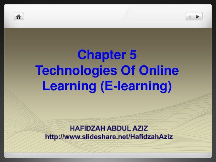 Chapter 5Technologies Of Online Learning (E-learning)