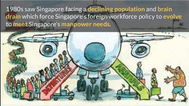 1980s saw Singapore facing a declining population and brain drain which force Singapore's foreign workforce policy to evol...
