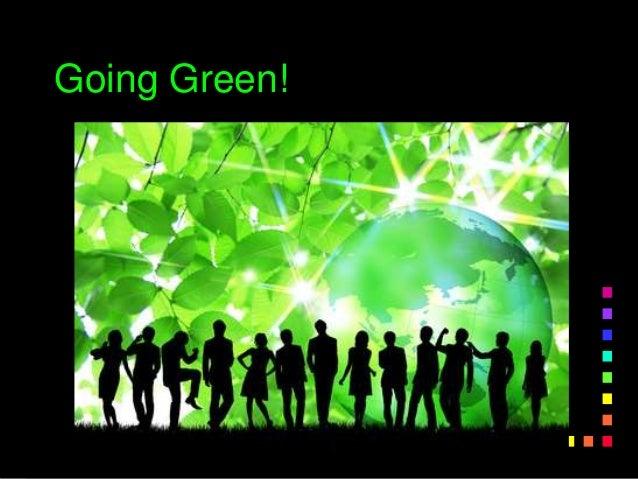 go green example essays