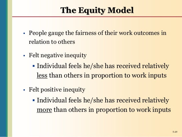 companies that use equity theory