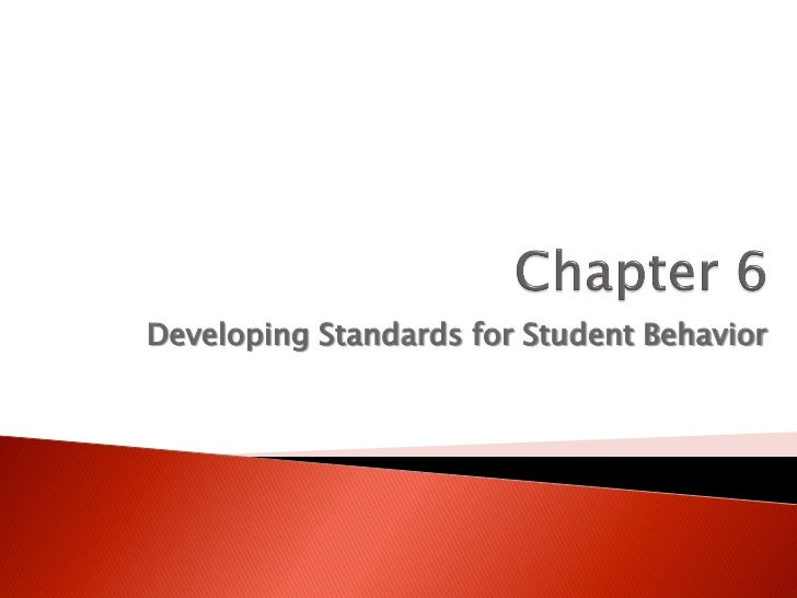 Developing Standards for Student Behavior