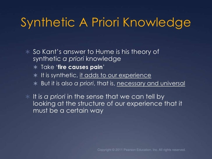 what is synthetic a priori knowledge