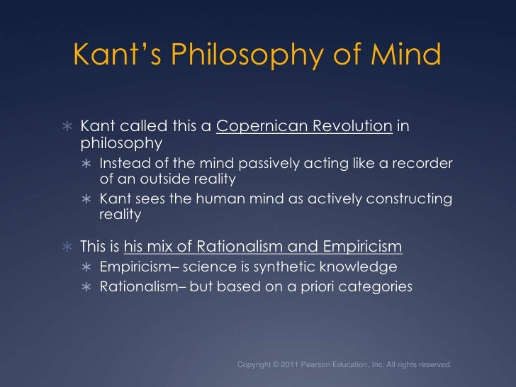 kant s copernican revolution Kant's copernican revolution, that placed the role of the human subject or knower at the center of inquiry into our knowledge, such that it is impossible to.