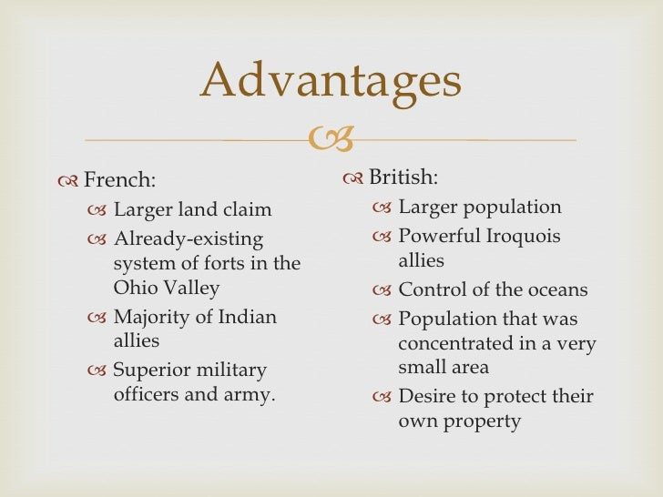 Advantages and disadvantages british and french beginning