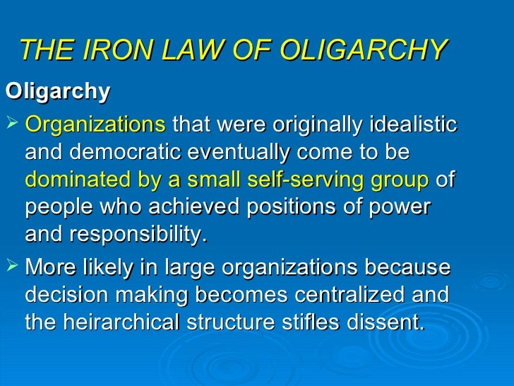 iron law of oligarchy