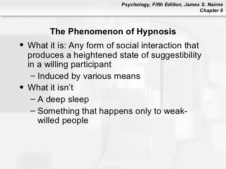 what is hypnosis describe the physical I conclude with an outlook of hypnosis today and what great things you can do with hypnosis either in self-hypnosis or as a reputable practitioner then i will describe the psychological and physical aspects of hypnosis and discuss the role of relaxation in hypnotherapy.