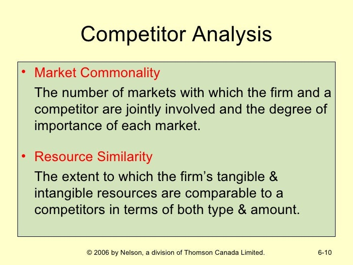 market commonality