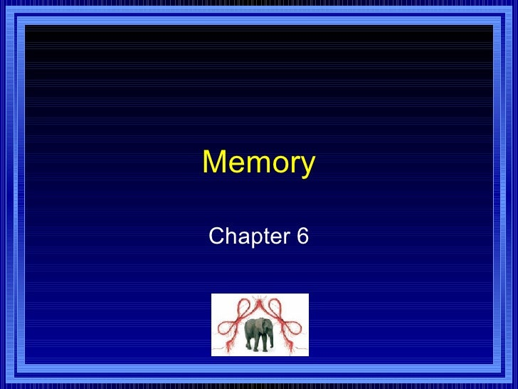 Memory Chapter 6