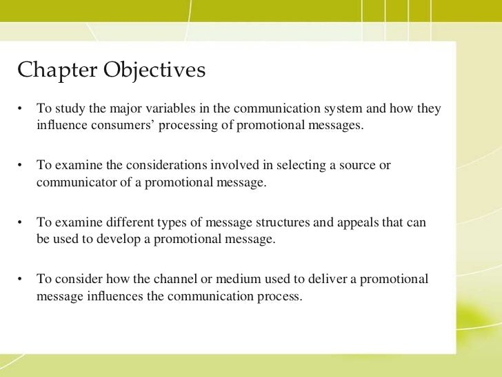 Source, Message, and Channel Factors Slide 2