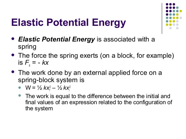 Elastic Potential Energy Definition