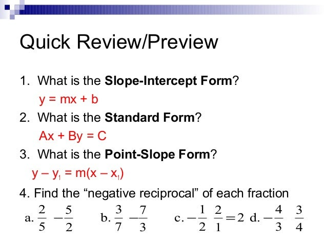 point slope form fraction  Chapter 16.16
