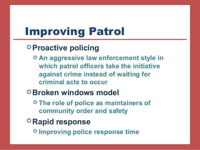 ORDER MAINTENANCE (police)