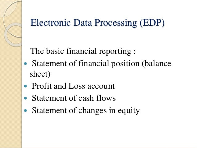Advantages of Electronic Data Processing