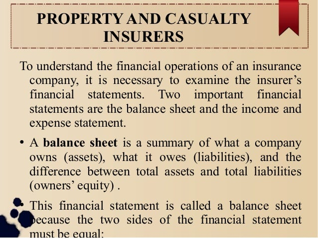 Chapter 6: FINANCIAL OPERATIONS OF I NSURERS Slide 2