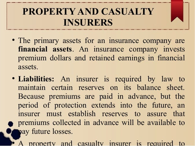 Chapter 6: FINANCIAL OPERATIONS OF I NSURERS Slide 3