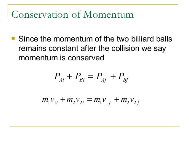 convervation of momentum during a collision – efficient collision detection  changing the neighborhoods during animation 320491:  which represent the convervation of mass and momentum for an.