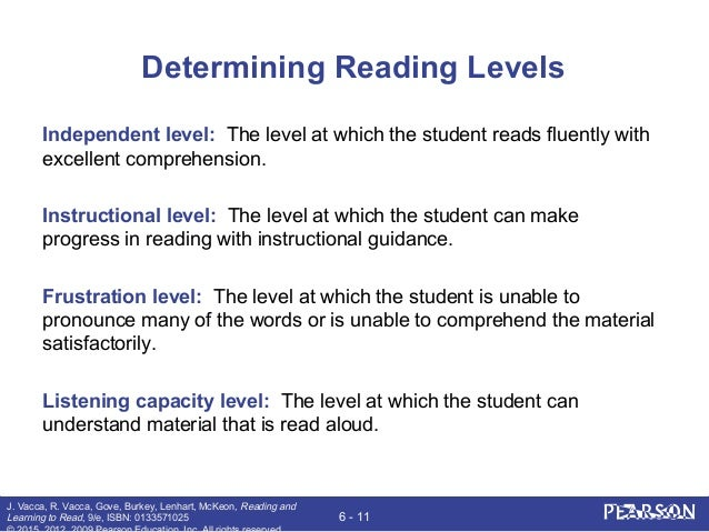 Reading And Learning To Read Chapter 6