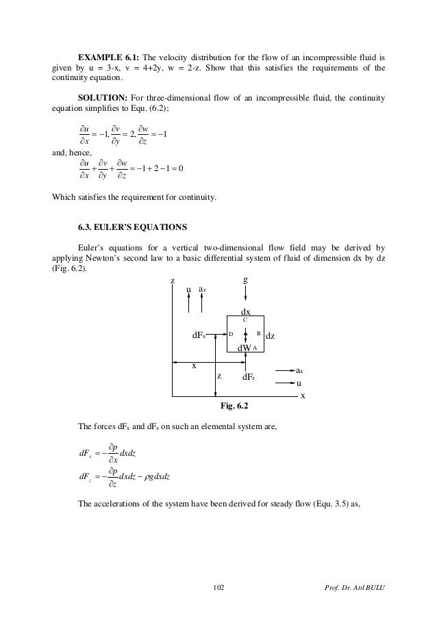 continuity equation differential form. dr. atıl bulu101; 3. continuity equation differential form