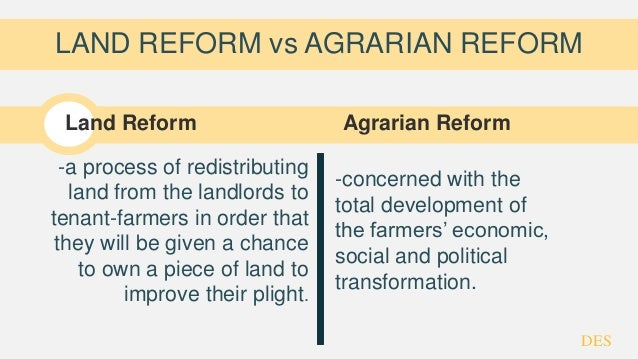 state of the philippine agrarian reform Agrarian reform secretary john castriciones urged farmers here on tuesday to avail of a government credit facility for small farmers through the state.