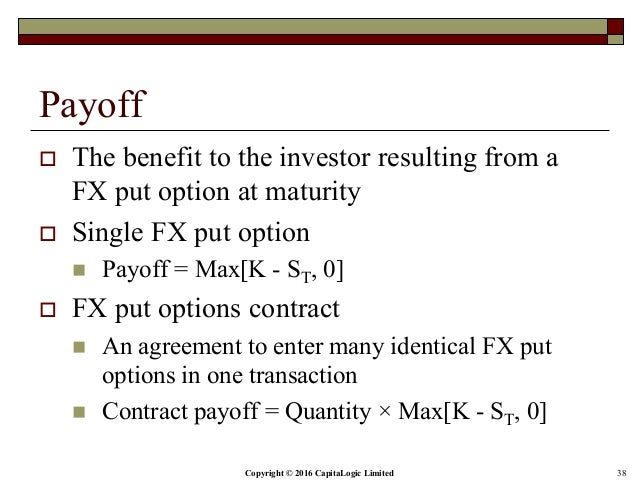 Advantages of fx options