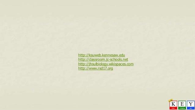 http://ksuweb.kennesaw.edu http://classroom.jc-schools.net http://jhsulbiology.wikispaces.com http://www.rsd17.org