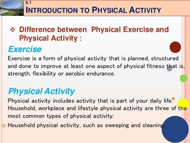 Chapter 6 Physical Activity Environment