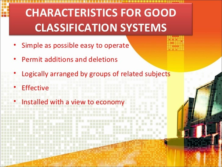 Chapter 6 Subject Classification Operation