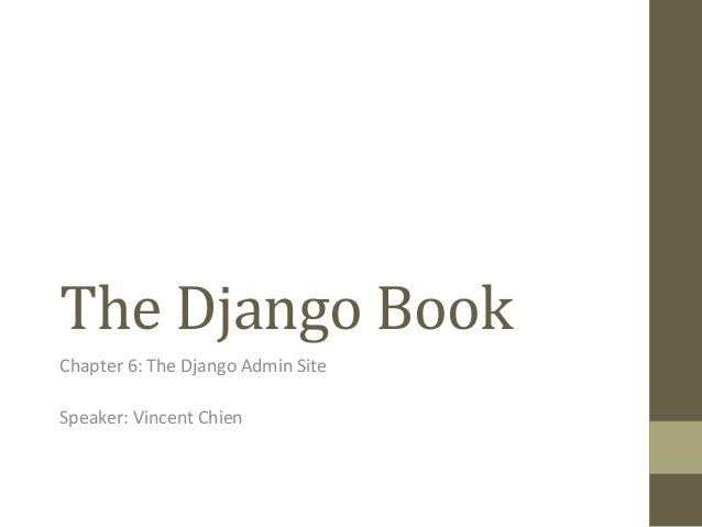 The Django Book