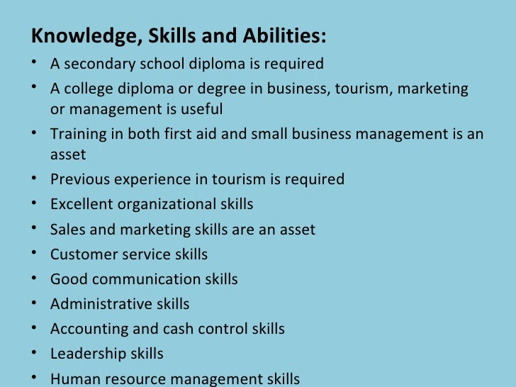 Chapter 6 Tourism And Hospitality Career Pathway And