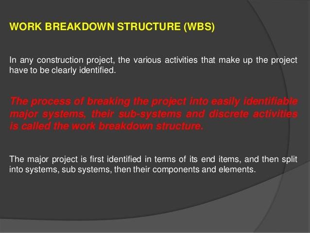 WORK BREAKDOWN STRUCTURE, JOB LAYOUT & LINE OF BALANCE Slide 2