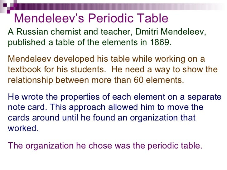 Chapter 6 periodic table 4 mendeleevs periodic table urtaz Choice Image