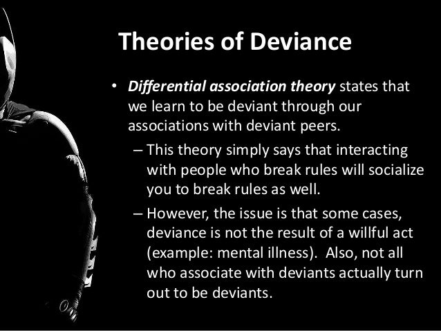differential association theory of deviance