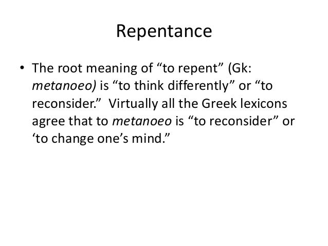 What Is The Definition Of Repentance