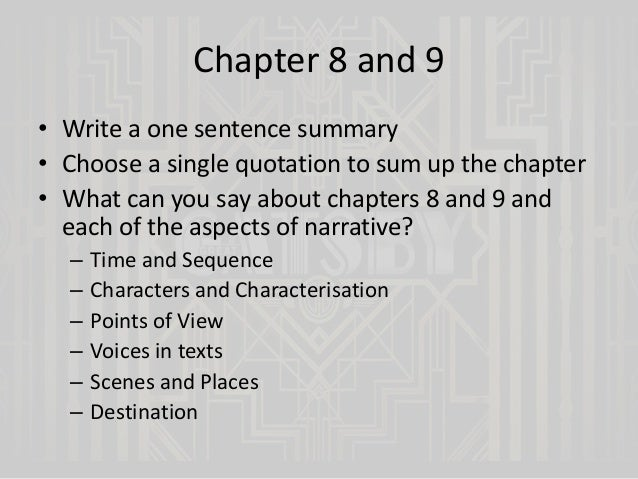 The Great Gatsby Chapters 6 And 7