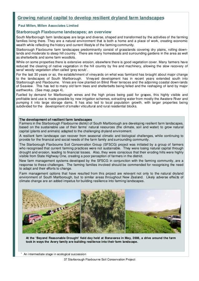 Growing natural capital to develop resilient dryland farm landscapes Paul Millen, Millen Associates LimitedStarborough Fla...