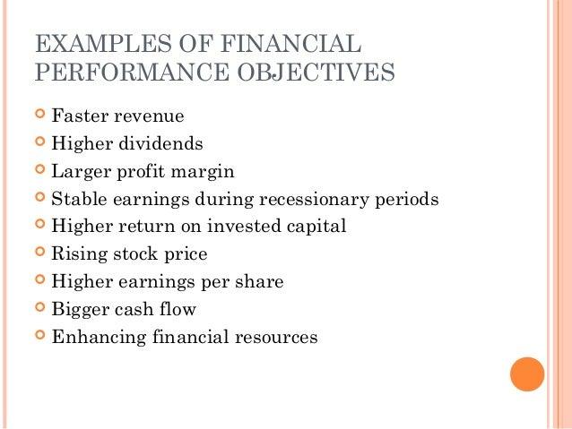 Establishing Objectives