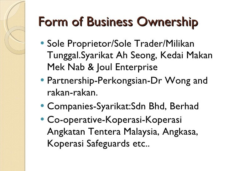 forms of business organization pdf