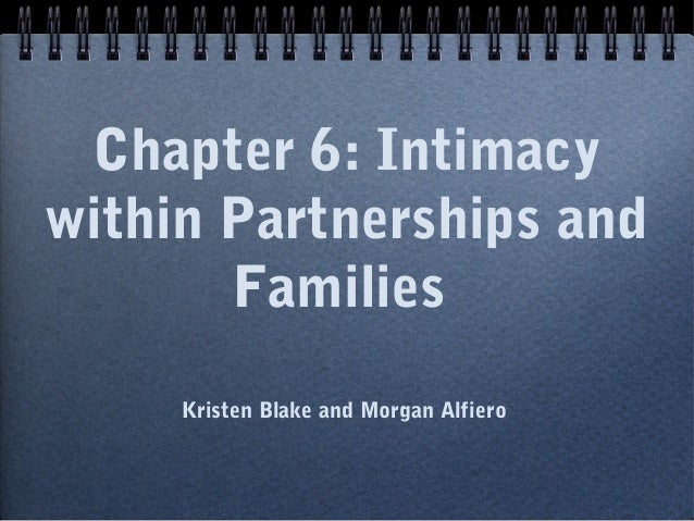 Chapter 6: Intimacywithin Partnerships and       Families     Kristen Blake and Morgan Alfiero