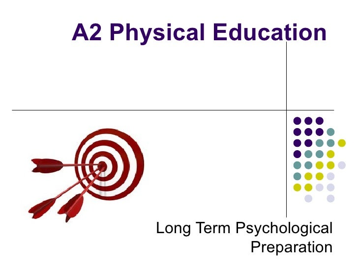 A2 Physical Education      Long Term Psychological                  Preparation