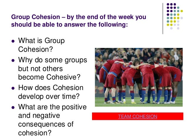 Group Cohesion according to Caron (1980)   Groups exhibit the following:      A Collective Identity A Sense of shared ...