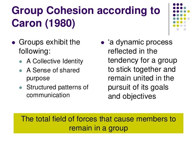 Cohesion can be split into two areas:   Task Cohesion    Social Cohesion  Task: Use the video to help you define the two...